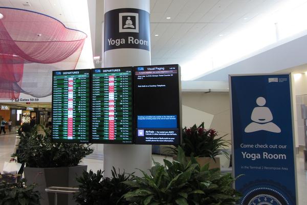 Chicago airport yoga room