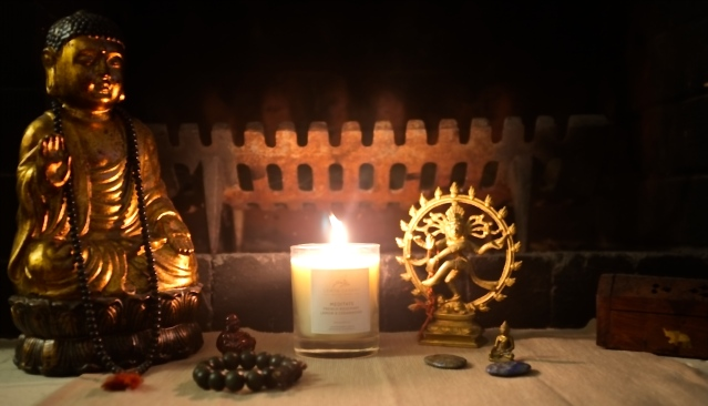 Set up your own sacred spot at home, get a candle, focus on the flame - and finally close your eyes!