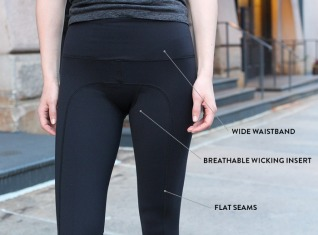 with and without yoga pants - Pi Pants