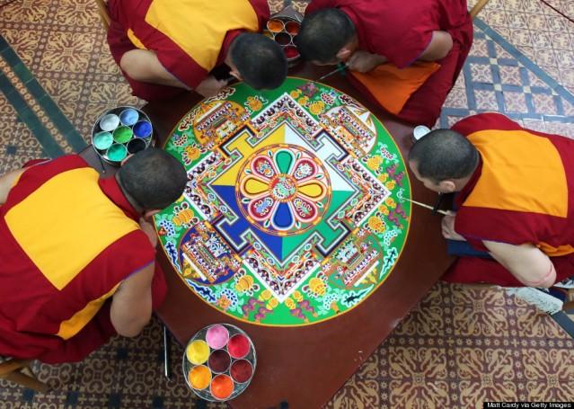 Tibetan Monks Take Part In The Salisbury International Arts Festival