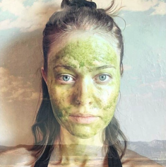 Matcha tea facial mask