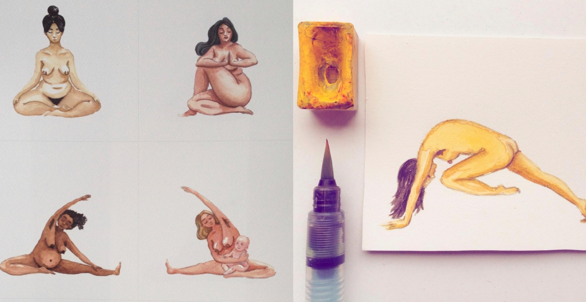 Trending: Nude yoga posters