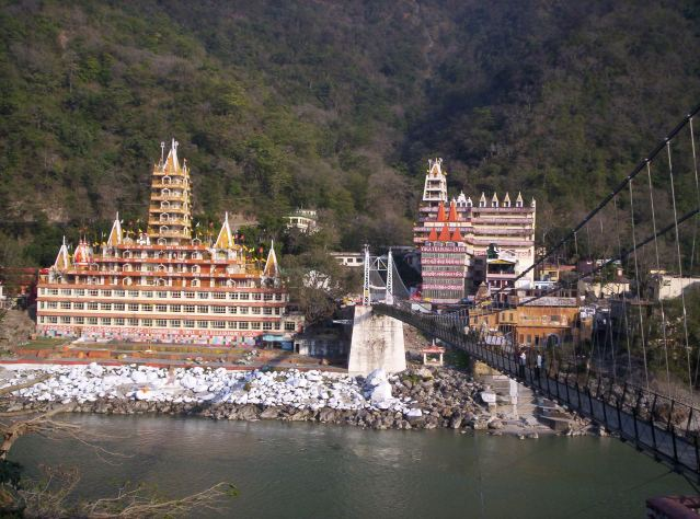 Rishikesh, bridge across river, India, Yoga