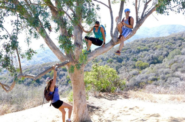 Yoga hiking